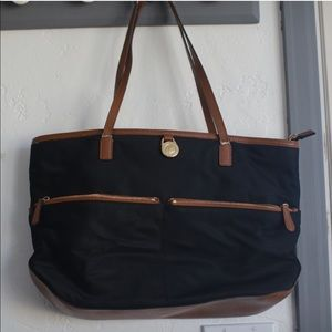 Michael Kors black and brown purse